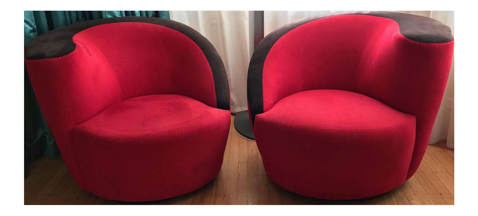 Vladimir Kagan Nautilus Chairs   A Pair   Image 1 Of 7