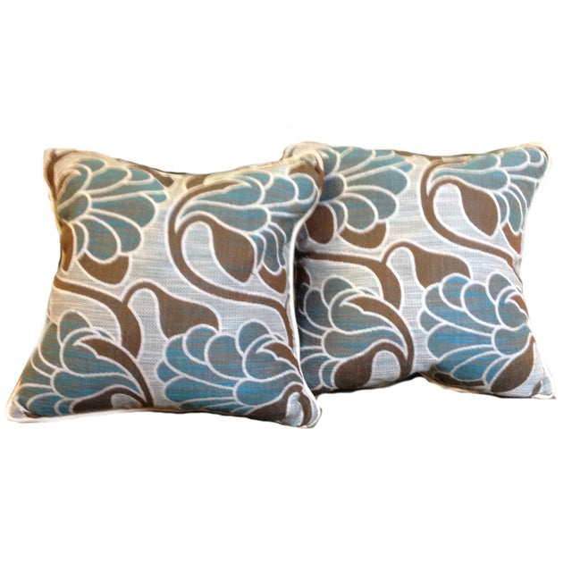 Vintage Drapery Pillows - A Pair - Image 1 of 6