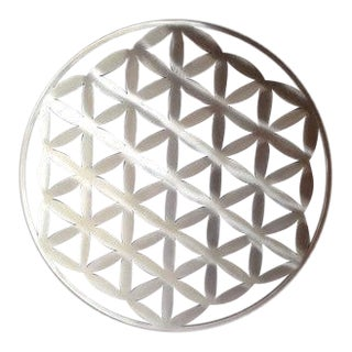 Contemporary Flower of Life Metal Wall Art