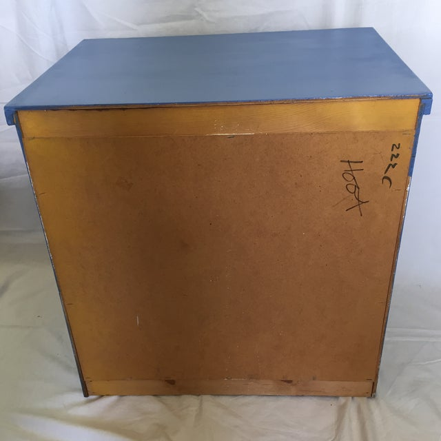 Image of Blue Wood Campaign Nightstand