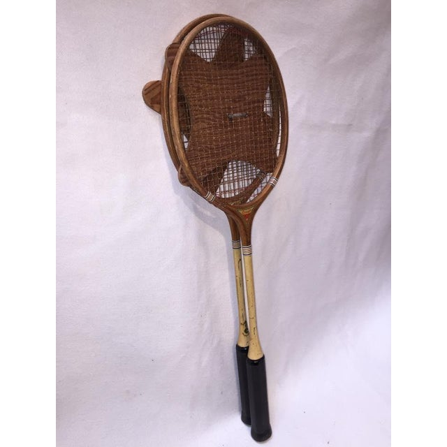 Vintage Wood Badminton Rackets - a Pair - Image 3 of 5