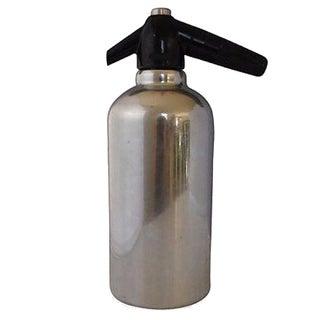 Mid-century Chrome Seltzer Bottle