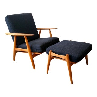 Hans Wegner Model Ge240 Cigar Chair & Ottoman