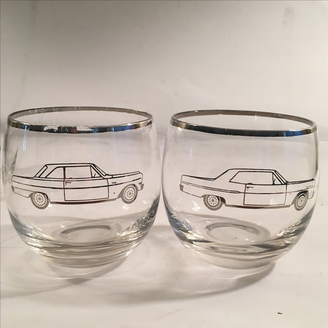 Classic 60's Chevy Roly Poly Glasses - Set of 5 - Image 3 of 5