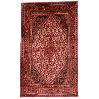 "RugsinDallas Vintage Persian Hand Knotted Rug - 4'5"" X 7'3"""