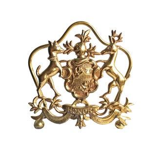 Vintage Italian Brass Letter Holder