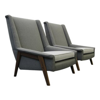 Dux Style Mid-Century Danish Lounge Chairs - A Pair