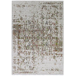 Orange & Green Distressed Rug - 5'3'' X 7'8''