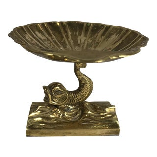 Brass Dolphin Fish Stand