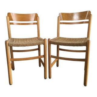Vintage Mid-Century Modern Danish Style Dining Chairs (A pair)