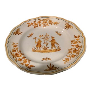 Longchamp French Faience Olerys Moustiers Dinner Plate