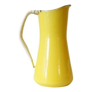 Jens Quistgaard Dansk Kobenstyle Yellow Enamel Pitcher