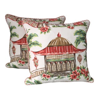 Chinoiserie Style Pillows - A Pair