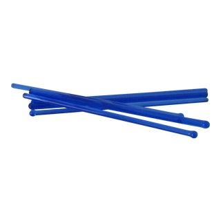 Cobalt Glass Drink Stirrers - S/6