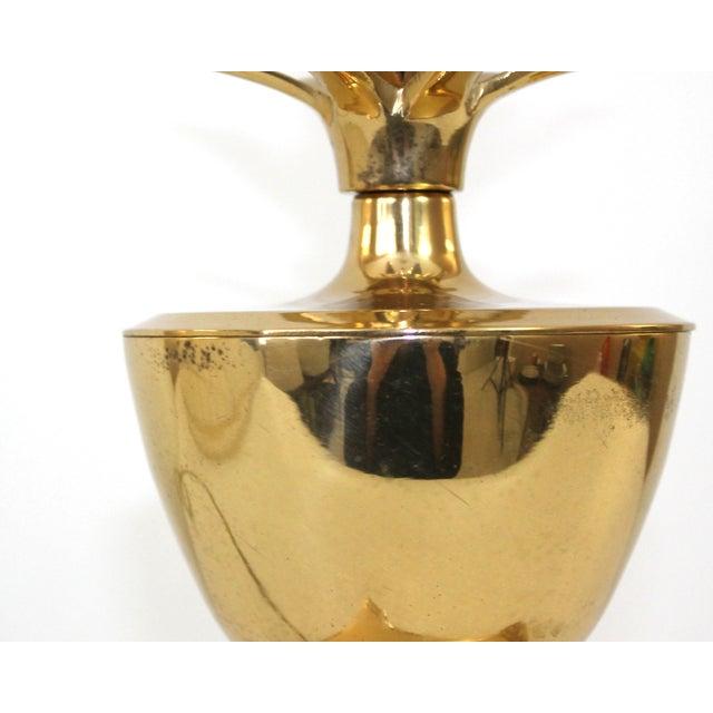 Hollywood Regency Brass Pineapple Desk Lamp - Image 8 of 10