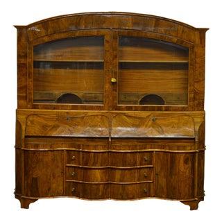 Antique Italian Olive Wood Secretary Desk