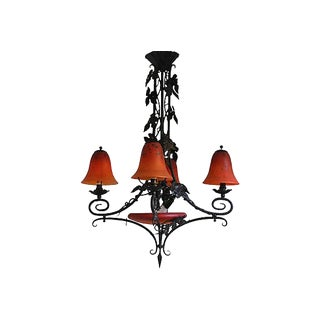 French Art Deco Charles Schneider Chandelier