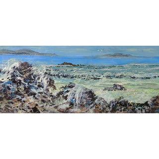 Simon Michael Rocky Coast of Greece Painting