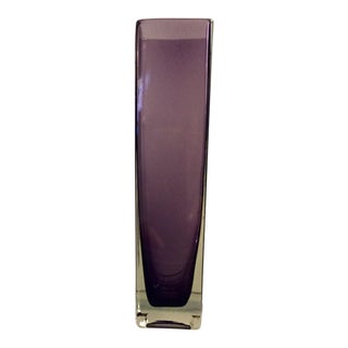 Aubergine Glass Flower Vase