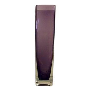 Aubergine Glass Flower Vase