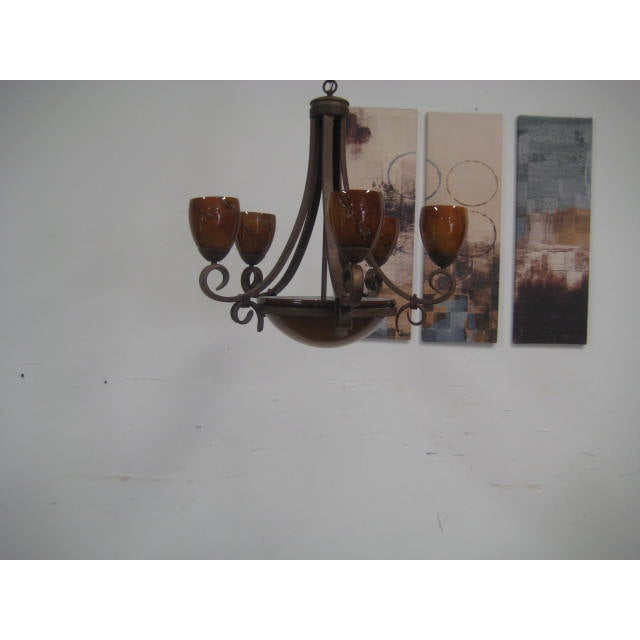 Image of Blown Glass Rustic Chandelier