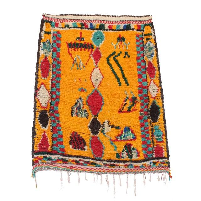 "Vintage Azilal Moroccan Berber Rug - 3'1"" x 3'10"" - Image 1 of 2"
