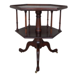 Kittinger Colonial Wiliamsburg CW-169 George III Tiered Revolving Book Table