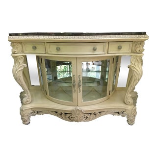 French Carved Server/Display Cabinet by Pulaski