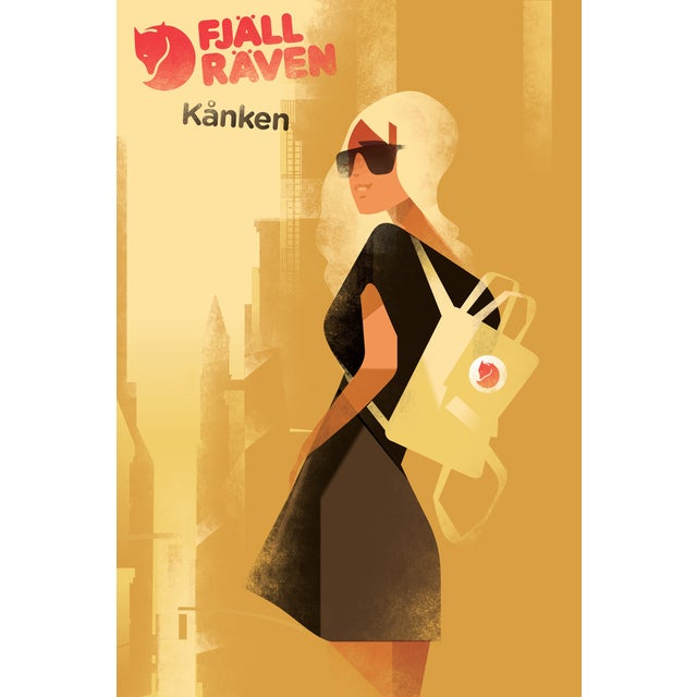 Contemporary Mads Berg 'FjallRaven' Danish Poster - Image 1 of 2