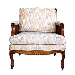 Double-Caned Rainbow Chevron Chair