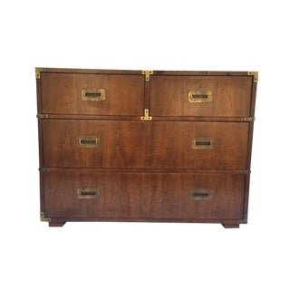 Iconic Vintage Henredon Campaign Chest 4 drawer Dresser