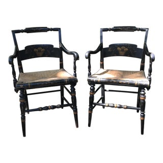 Hitchcock Arm Chairs - a Pair