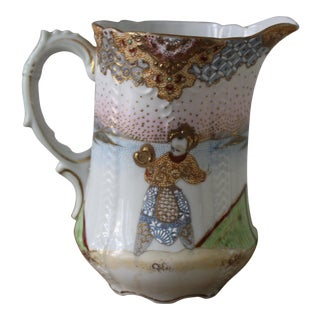 Japanese Moriage Painted Pitcher