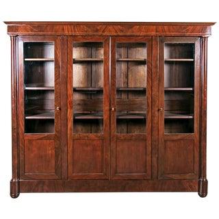 Antique French Empire Period Mahogany Bookcase