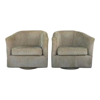 Velvet Swivel Chairs - A Pair