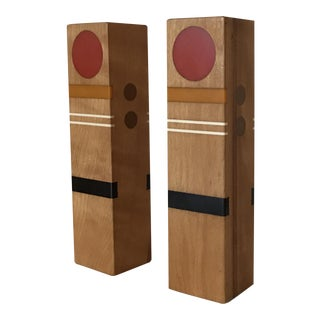 Robert McKeown Oak and Resin Inlay Salt & Pepper Shakers