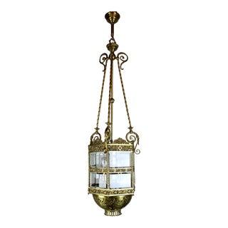 Monumental Converted Gas Hall Lantern.
