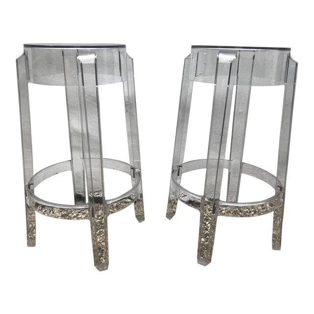 Kartell & Starck Charles Ghost Counter Stools - A Pair - Image 1 of 11