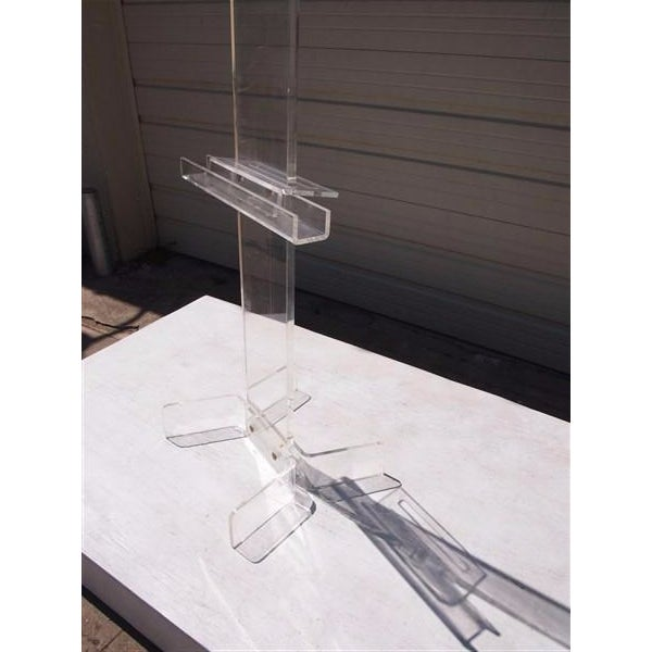 Image of Modern Transparent Plexi-Glass Italian Easel