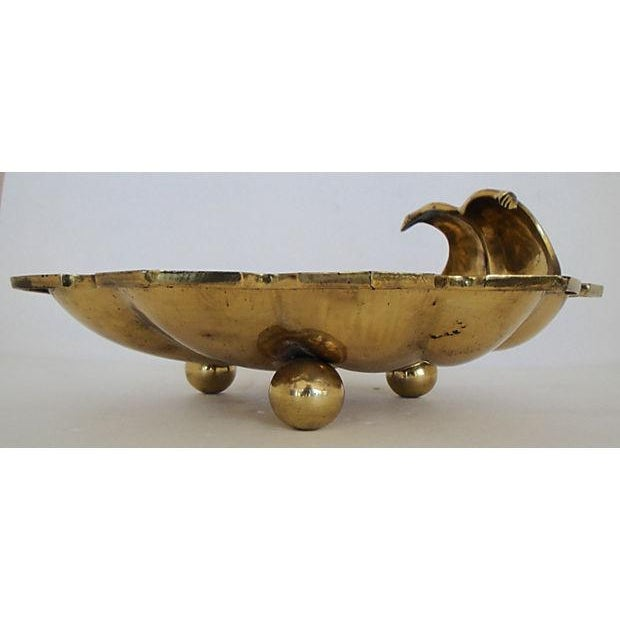 Leaf Shaped Solid Brass Plate - Image 8 of 8