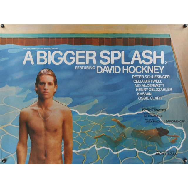 A bigger splash 1974 david hockney film poster chairish for Film a bigger splash