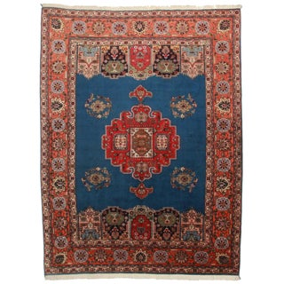 """Hand Knotted Wool Persian Tabriz Rug - 7'2"""" X 10'"""