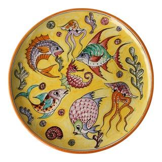 Pesce Colorato Italian Pottery Platter