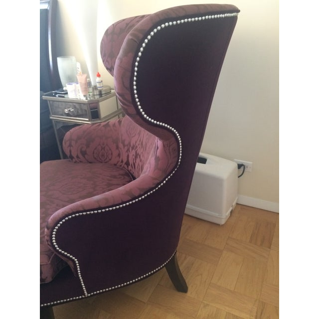 Ethan Allen Rand Wing Chair & Ottoman - Image 4 of 6