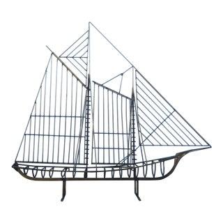Curtis Jere Brass Boat Sculpture