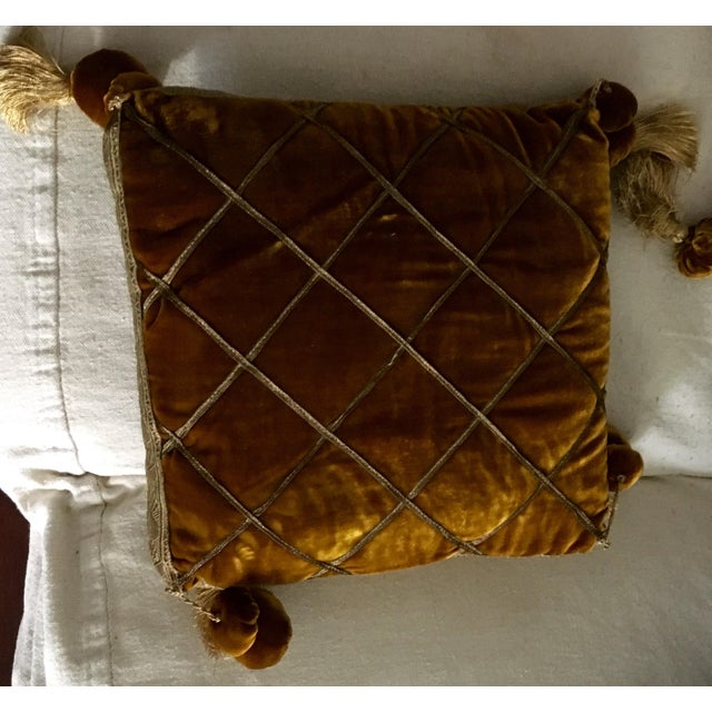 Chic Velvet & Passementerie Throw Pillows - A Pair - Image 5 of 8