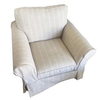 Pottery Barn Roll Arm Swivel Chair