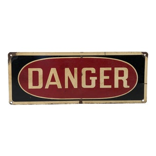Vintage Metal Danger Sign