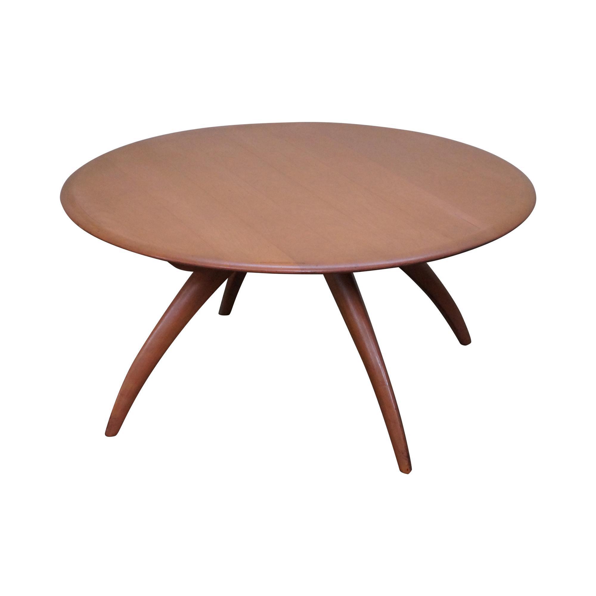 Heywood Wakefield Revolving Maple Coffee Table
