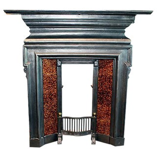 English Cast-Iron Fireplace Mantel